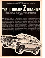 1971 CHEVROLET VEGA Z-8 302/250 HP ~ ORIGINAL 5-PAGE ARTICLE / AD