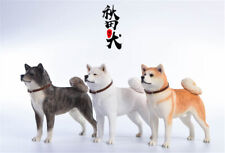 JXK 1/6 Japanese Akita Dog Pet Figure Animal Model Collector Decor Toy Xmas Gift
