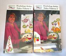 Donna dewberry One Stroke taller 1 y 2 Vhs flores verduras Nuevo Pintura