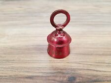 "Vintage Red Metal 2.25� x 1.2"" Brass Holiday Christmas Noel Bell 971 stamped"