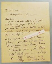 ♦ L.A.S Maurice BARING Sarah BERNHARDT Reynaldo HAHN lettre Londres 1930 London