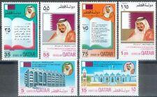 Qatar 1975 ** Mi.649/54 Unabhängigkeit Independence Verfassung Constitution