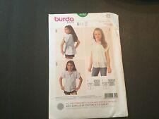 Burda Sewing Pattern 9392 Girls Childs Blouse Tops Size 6-11 Euro 116-146