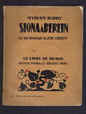 SIONA A BERLIN MYRIAM HARRY  LE LIVRE DE DEMAIN ARTHEME FAYARD