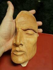 Modern Art Face bust sculpture Ceramic Unique Handmade mask decor