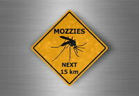 Autocollant sticker voiture moto panneau australie attention danger mozzies