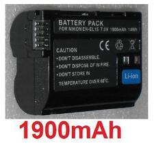 Batterie 1900mAh type EN-EL15 ENEL15 Pour Nikon Coolpix D7000