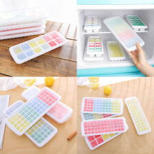 New listing Silicone Cube Tray Ices Jelly Maker Mold Trays with Lid for Whisky Cocktail Fwsa