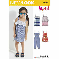 New Look Sewing Pattern 6502 SZ 3-8 Girls Child's Jumpsuit, Romper and Dresses