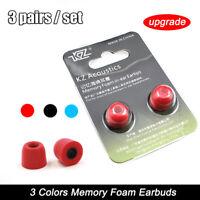 💗1Pair Memory Foam Earbuds Eartips Noise Isolating Ear tips For In-Ear Earphone