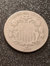 1870 Philadelphia Mint Shield Nickel VG