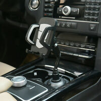 Universal Adjustable Car Mount Cup Holder Cradle Cell Phone Holder Black