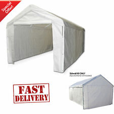 Garage Canopy Side Wall Kit Big 10 x 20 Tent Portable White Car Shelter Carport