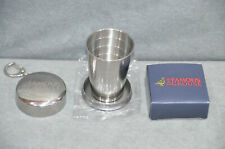 The Famous Grouse Whisky Steel Dram Cup Keyring Hiker Collapsible Shot Pop Up