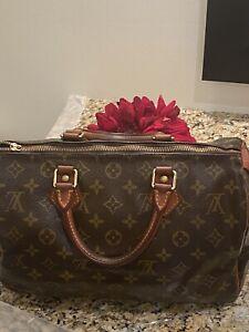Authentic Louis Vuitton Monogram French Company Speedy 30 Handbag - Pre Owned