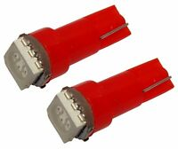 2x Ampoules T5 24V LED SMD rouge pour tableau de bord camion semi-remorque