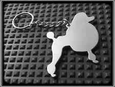 POODLE DOG KEYRING - Stainless Steel, Hand Made, (Chain Loop Key Fob)