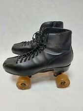 Vintage Nat Sport Goods Mens Black Roller Skates w MetaFlex Easy Rider Wheels 8
