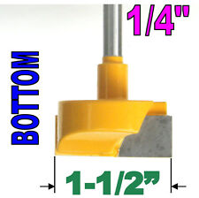 "1 pc 1/4"" Shank 1-1/2""  Diameter Bottom Cleaning Router Bit  sct-888"