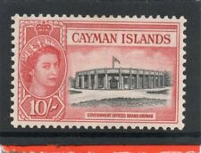 Cayman Islands QE2 1953-62 10s blk. & rose-red sg 161 VLH.Mint