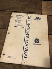 New Holland L464  L465  Lx465 Skid Steer Loader Operators Owners Manual NH 12/94