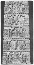 INDIA. Bas-Relief from an Indian Temple c1880 old antique print picture