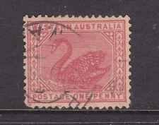 New listing W.A.: 1d Swan Wmk Crown A Sideways Sg 139 V.F.Used