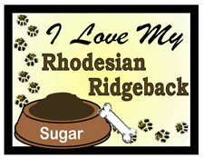 Rhodesian Ridgeback Personalized I Love My Rhodesian Ridgeback Magnet
