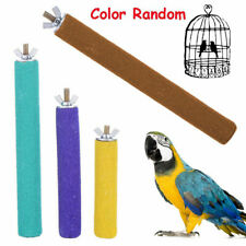 Colorful Pet Bird Chew Funny Toys Paw Grinding Stand Perches Cage Parrot Budgie