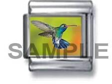 HUMMINGBIRD IN FLIGHT 9MM ITALIAN PHOTO CHARM LINK nature bird life garden