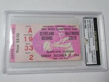 1964 Cleveland Browns vs Colts NFL Championship Ticket Stub Five Star Authentic