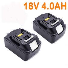 2x For Makita 18V 4.0AH BL1840 BL1830 BL1815 LXT Lithium Ion Battery Cordless