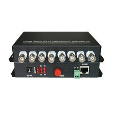 Multifunction Fiber Media Converter 8CH Video+10/100Mbps Ethernet +Data S/M 20Km