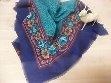 Vintage UNUSED Neck Scarf ~ Glentex Made Japan Beautiful Colors 31 x 31 Inches