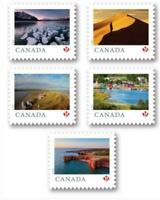 """2020 Canada 🍁 Far & Wide Series  🏞🍁 ALL 5 """"P"""" ISSUES  🏞 5 MNH Single Stamps"""