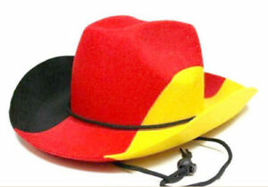 15x Cowboyhut Deutschland WM EM Filzhut Sonderposten Hut Fanartikel Ausverkauf