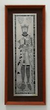 1970s Robert the Bruce King Scotland Framed Steel Etching Mid Century Omicways