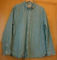 Brooks Brothers Men's Long Sleeve Shirt Size XXL Green and White Stripe Cotton