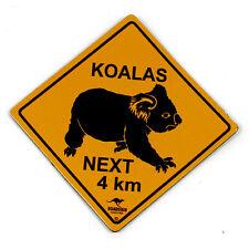 Australian Made Road Sign Souvenir Koala Vinyl Fridge Magnet Roadsign Australia