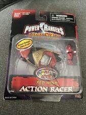 POWER RANGERS NINJA STORM ACTION RACER STORM RED WIN, UNOPENED. BANDAI