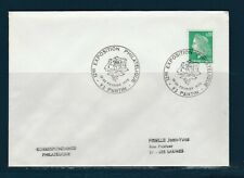 FRd  enveloppe Fleurs  rose exposition philatélique 93 Pantin   1972
