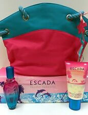 Escada Pacific Paradise Perfume 3Pc Gift Set 1.6 oz EdT Original Formula, Rare