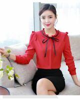 Korean Lady Women Summer T-shirts Casual Blouse Office Shirt T-Shirt Girl Floral