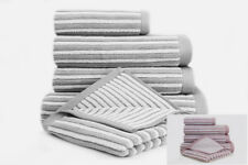 Luxury Towels Hotel Quality 100% Cotton Soft Stripe Towels Hand Bath Towel Sheet