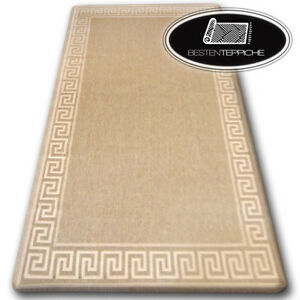 Indoor Outdoor-Tapis Sisal Simili Carreau Webmuster Design Terrasse Tapis Couleur Taupe