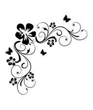 Blumen Wandaufkleber Vinyl Kunst Aufkleber Blumenmuster Spruch