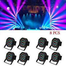 8 X 18 LED RGB Light PAR CAN DJ Stage DMX Lighting for Party Wedding Uplighting