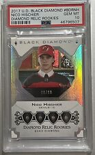 2017 18 BLACK DIAMOND Nico Hischier PSA 10 QUAD DIAMOND RELIC ROOKIES RC ROOKIE