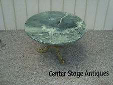 New listing 60177 Marble Top Coffee Table Stand with Metal Fish Figure Base