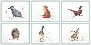 Pimpernel for Royal Worcester Wrendale Designs Placemats Set of 6
